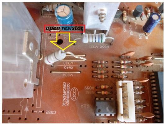 resistor open circuit