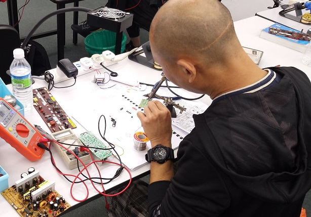 Singapore student study electronics repair
