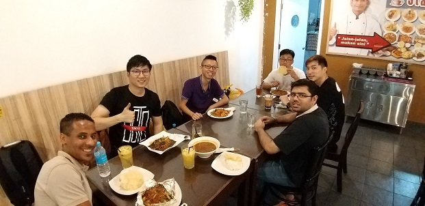 lunch with singapore, brunei, libya and local electronic repair students