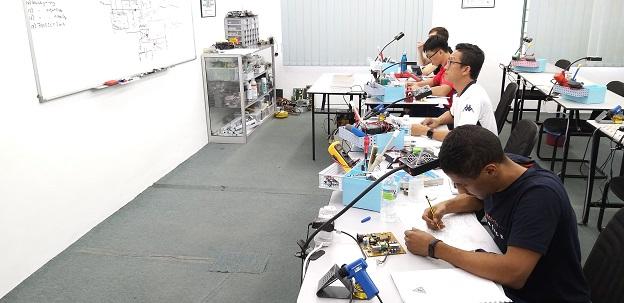 libya student electronics repair course