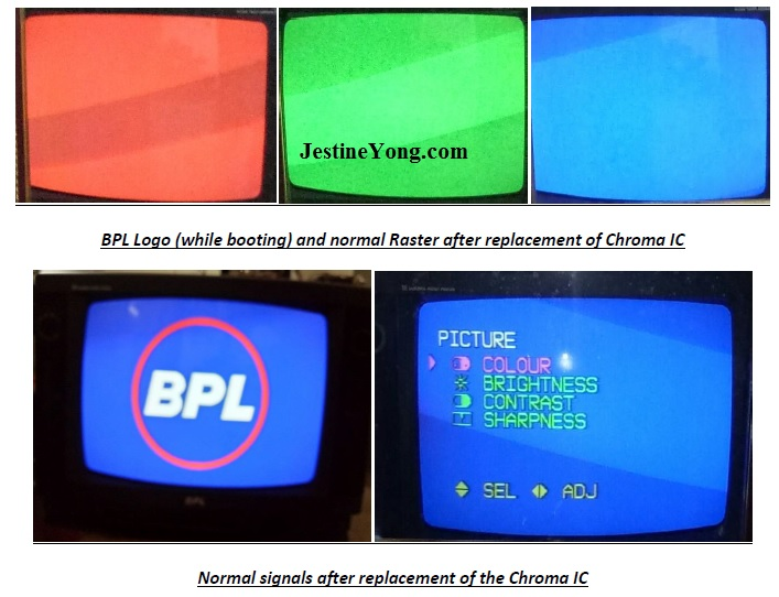 bpl color problem in tv repair