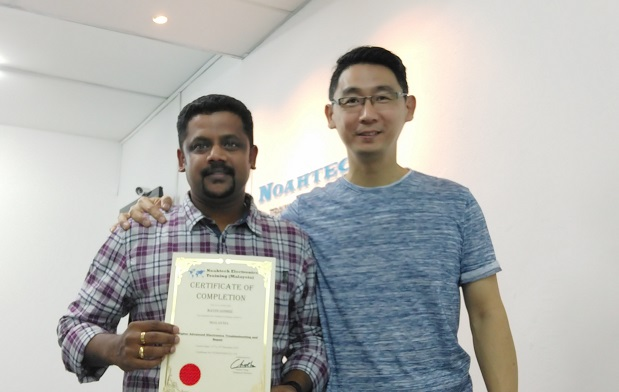 India student learn practical electronic repair in malaysia