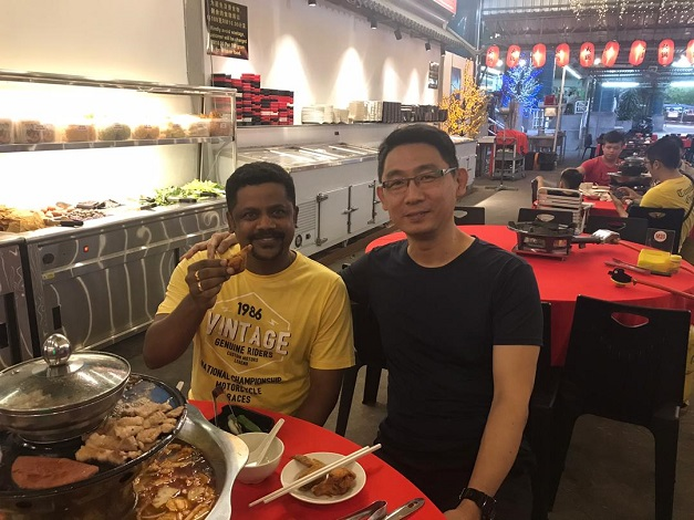 farewell dinner for india student that study electronics repair