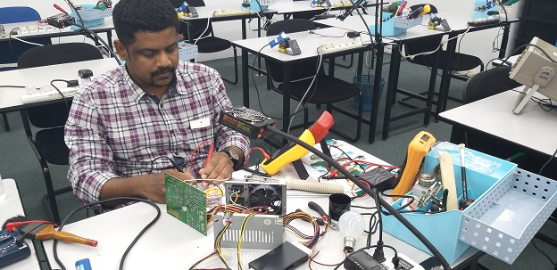 participant from india leanr atx power supply repair course in malaysia