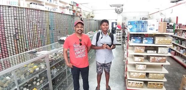 india student in jalan pasar malaysia