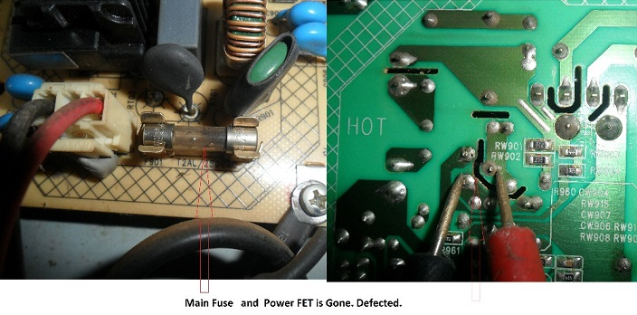 how to fix led tv power supply