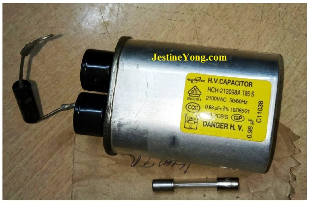 bad hv capacitor microwave oven