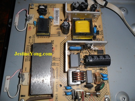konka led tv power supply repair