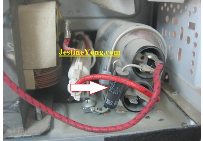 faulty microwave capacitor replace