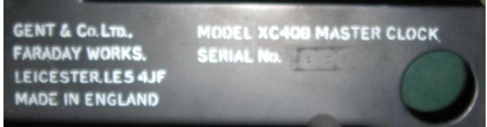Gent's XC408 Master clock