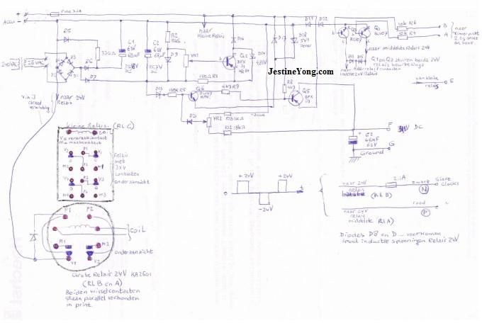 Gent's XC408 Master clock circuit board diagram