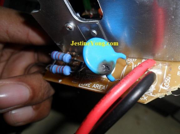 103 1 kv blown capacitor