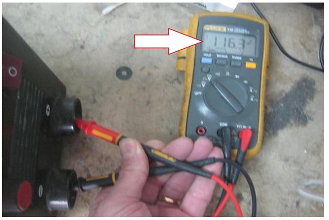 how to test welder machine output voltage