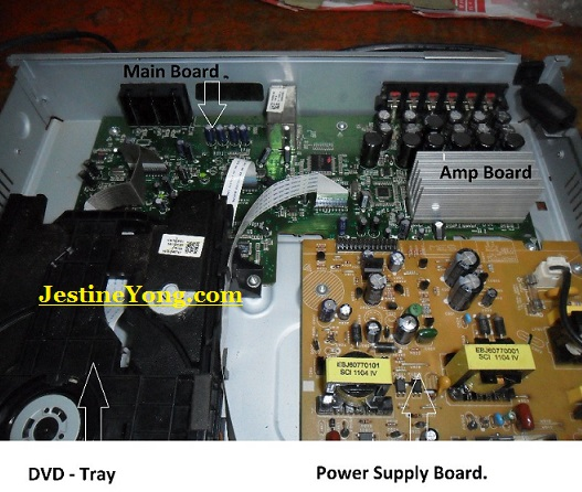 no power in lg dvd plyer repaired