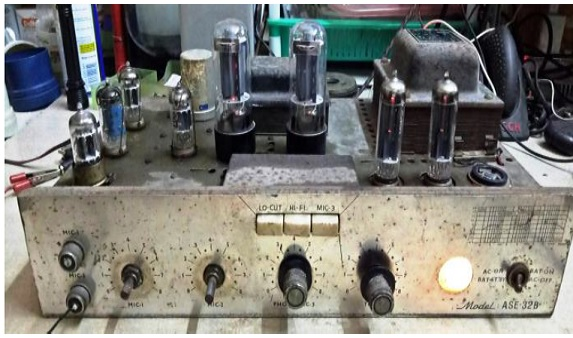 how to repair and fix antique amplifier power