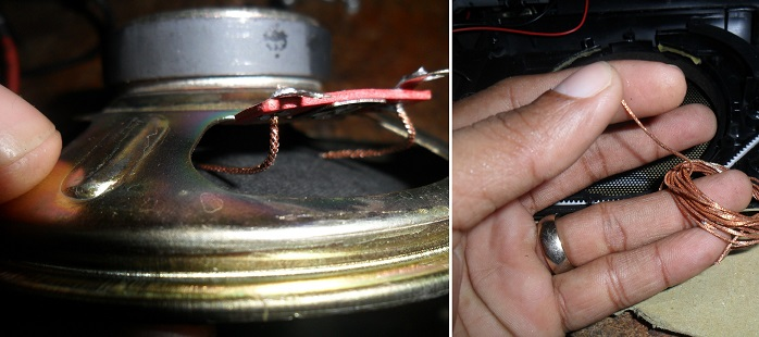 speaker wire repair