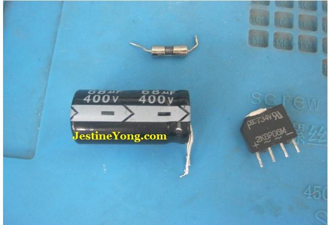 bad capacitor in power adapter repair