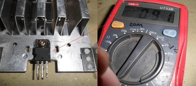 tip42c transistor shorted