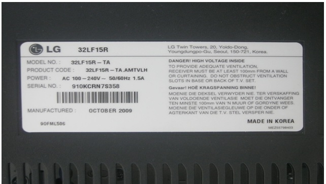how to fix lg lcd tv no power