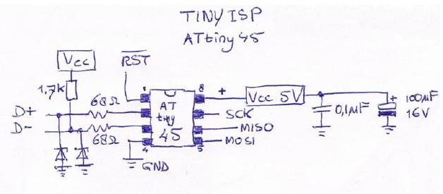 attiny 45 diagram