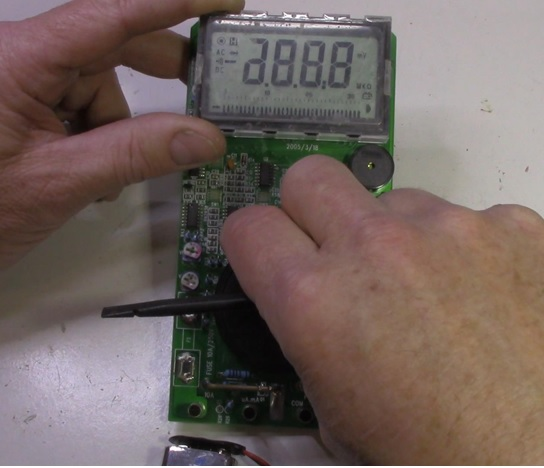 rotary dial on multimeter