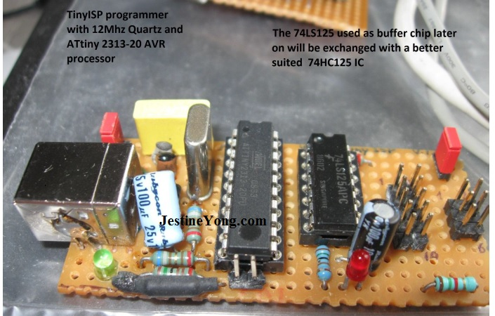 tinyisp programmer with 12 Mhz