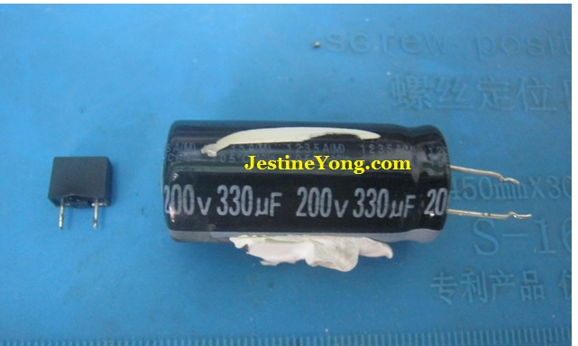 capacitor and bridge rectifier blown
