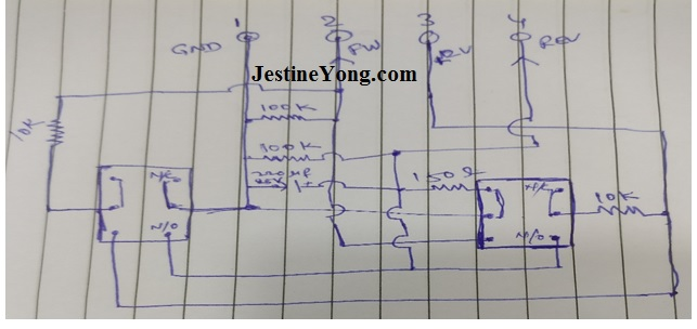 hand drawn circuit schematic diagram