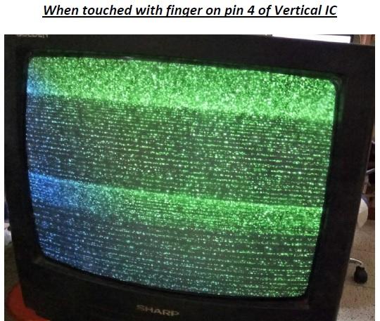 tv vertical problem repair