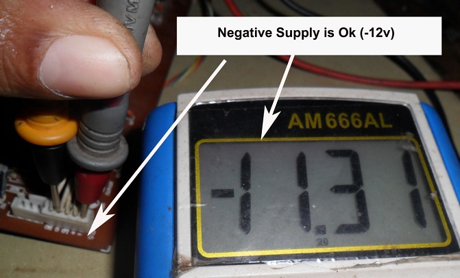 minus voltage in active speaker