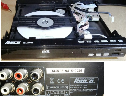 dvd repair burst capacitor