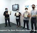 trengganu student electronics repair course