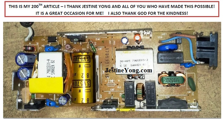 how to repair Sony LCD power adapter