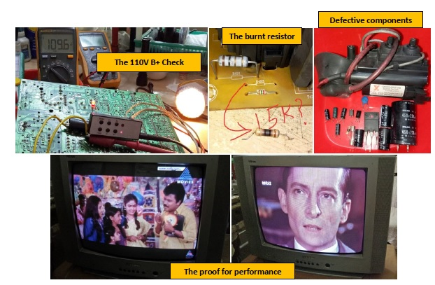 how to repair and fix china crt tv with kit