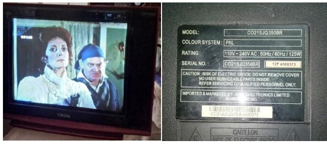onida crt tv repair