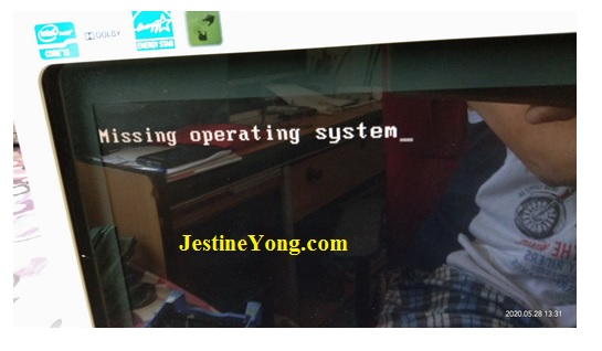 Missing operating system Error on Boot