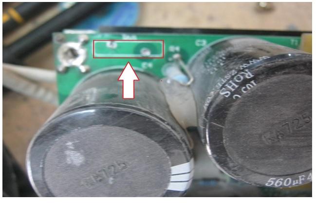 blown varistor in welder