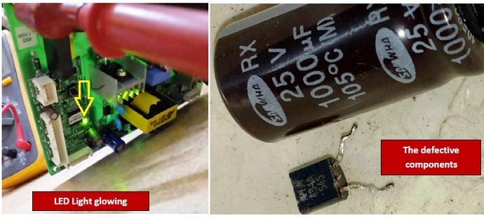 troubleshooting and repairing LG fridge inverter circuit board from india