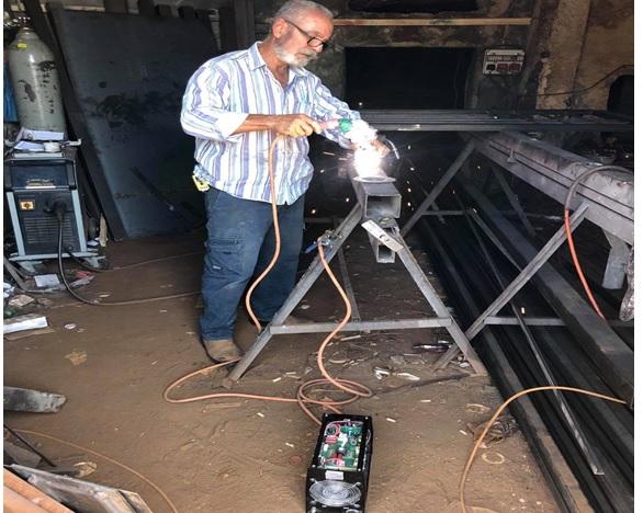 how tofix kauffe welding machine