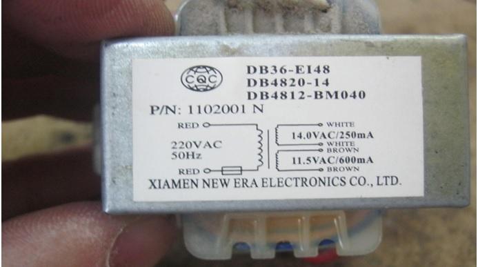 faulty air cond linear transformer