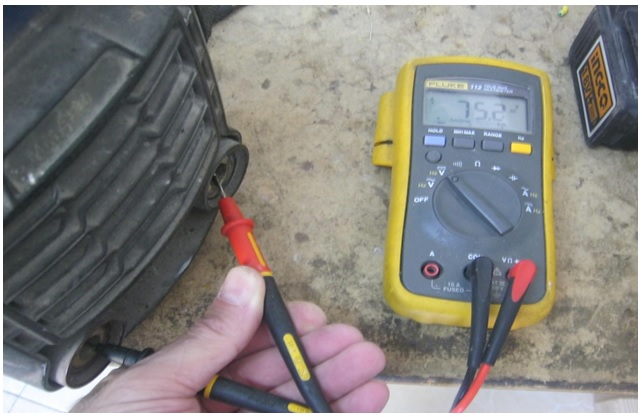 how to check the welding machine output