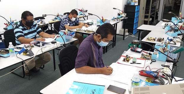 kursus elektronik baiki steam iron Philips