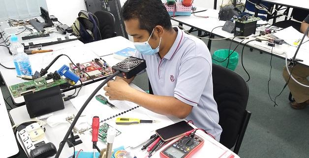 kursus elektronik membaiki peralatan rumah