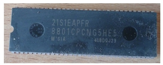 toshiba crt tv microcontroller ic replace
