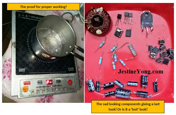 bad parts in induction cooker