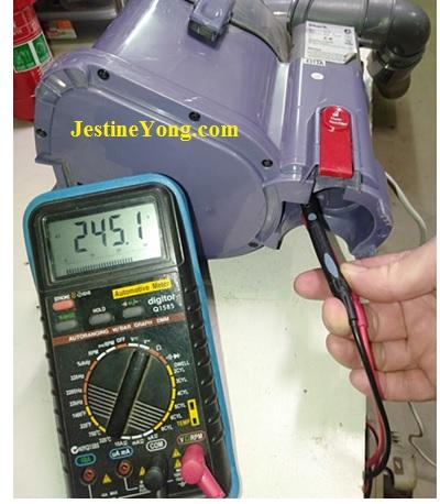 testing vacuum cleaner voltage