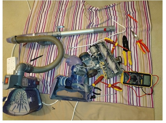 total disassembly of the vacuum