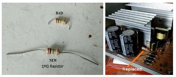 faulty resistor