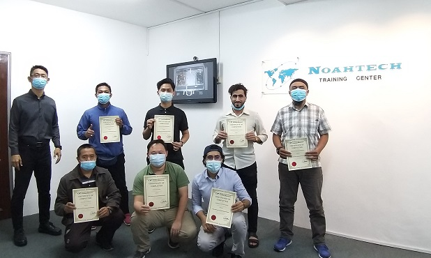 Yemen students attended electronics repair certificate course in Malaysia