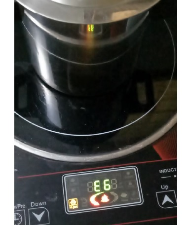 error e6 in induction cooker repaired
